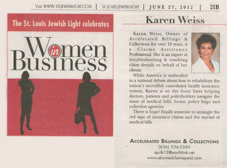 Women in Business article featuring Karen Weiss